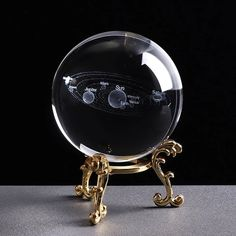 Buy Galaxy/solar System Crystal Ball Planets Glass Ball Laser Engraved Globe Miniature Model Astronomy Gift Ornament at Wish - Shopping Made Fun Galaxy Solar System, Solar System Model, Crystal Sphere, Crystal Ball, Clear Crystal, Sistema Solar 3d, Globe Ornament, Modelos 3d, 3d Laser