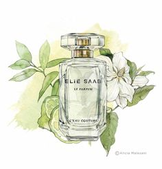 """More illustrations LINE BOTWIN """"girly illustrations"""" Alicia Malesani - Vogue Spain - January 2015 Cute Illustration, Watercolor Illustration, Arte Fashion, High Fashion, Bottle Drawing, Chanel Art, Perfume Bottles, Poster, Sketches"""