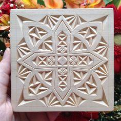 """FancyChip - Tatiana Baldina: """"Winter"""" chip carved pattern"""