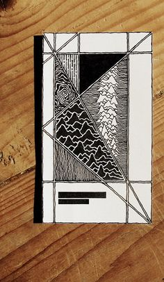 Van De Graaf Canon and Joy Division by Rebecca Blair - pen and ink drawing #lines #sketching #tangles