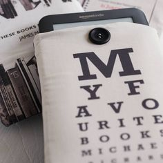 Personalised Eye Chart Cover For Kindle