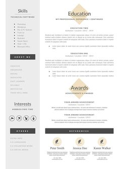 Letter Of Rec Template Business Infographic  Resume Template And Cover Letter  References .