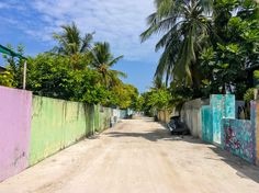 Strolling along the streets on local island Thulusdhoo #Maldives #travel #explore #tropics #palms #indianocean #vacation #wanderlust