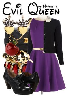 """Evil Queen"" by annabelle-95 ❤ liked on Polyvore featuring Chanel, Closet London, MICHAEL Michael Kors, Frye, Disney and Irit Design"
