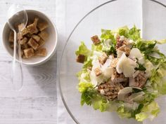 Refreshing romaine lettuce, grilled chicken and fresh-made whole-wheat croutons compliment each other, especially when topped with a zesty lemon dressing.