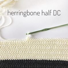 Herringbone Half Double Crochet Stitch - Daisy Farm Crafts