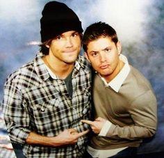 Jared Padalecki and Jensen Ackles.