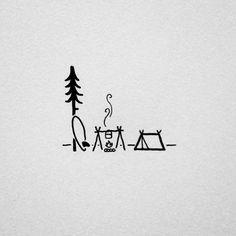 Rysunek prosty Ale ładny. Niby zwyczajny Ale ma to coś w sobie. Simple Drawings, Fun Drawings, Doodle Drawings, Doodle Art, Simple Sketches, Cartoon Drawings, Art Sketches, Surf Art, Camp Fire Tattoo