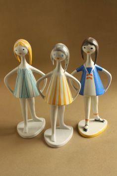 Retro Art, Art Deco, Pottery, Ceramics, Modernism, Hungary, Vintage, Home Decor, Dolls