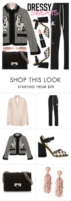 """""""Dressy Sweats"""" by ivansyd ❤ liked on Polyvore featuring A.L.C., P.A.R.O.S.H., Gucci, Charlotte Olympia, Aspinal of London, Stella & Dot, Smashbox and sweatpants"""