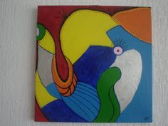 Olifant, acryl op doek, 40x40, 2009
