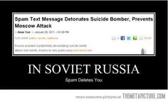 Best representation descriptions: Funny Spam Email Related searches: Funny Russian Jokes,Russian Jokes in Russian,Russian Puns,Corny Jokes . Russian Humor, Funny Russian, In Soviet Russia Meme, Demotivational Posters Funny, One Line Jokes, Funny Images, Funny Pictures, Funny Pics, Humor