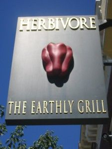 Herbivore The Earthly Grill. Completely Vegan restaurant in San Francisco and Berkeley, CA. The Vegan strawberry shake is delicious I've heard!