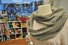'Seaside Yarns Infinity Cowl' by Tanna Peters.   (? use 2 skeins Rd. to China Lt.)