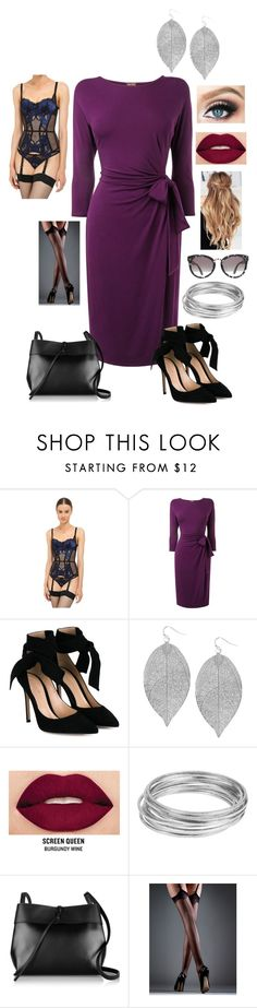 """Siobhan: Dame"" by dottieonthemoon ❤ liked on Polyvore featuring L'Agent By Agent Provocateur, Phase Eight, Gianvito Rossi, Humble Chic, Smashbox, Worthington, Kara and Lipsy"