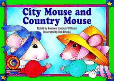 City Mouse and Country Mouse (As Flannel Board Story)