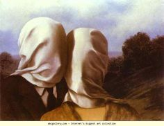 René Magritte - OS AMANTES - 1928