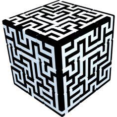 V-Cube 3 Flat - Maze Cube Glossy Finish 3x3 Twisty Puzzle