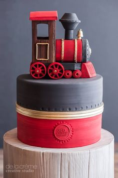 DeLaCreme Studio: A Choo Choo. Dessert Table Birthday, Birthday Desserts, Specialty Cakes, Novelty Cakes, Occasion Cakes, Cakes For Boys, Girl Cakes, Love Cake, Cute Cakes