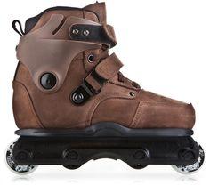 USD Richie Eisler Carbon Free in brown leather. Aggressive Skates, Bmx Street, Inline Skating, Bicycle Race, Mens Gear, Skater Girls, Fresh Kicks, Skate Shoes, Toys For Boys
