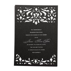 An elegant Prom invitation.