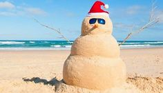 Definalty no snow in Australia at Christmas time - but plenty of golden sand!