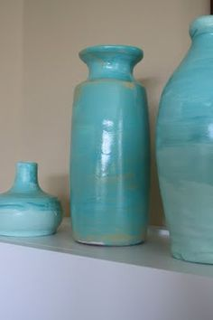 Painting pottery - diy