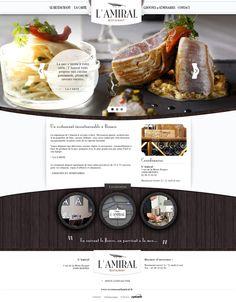 Site web : Restaurant L'Amiral on Web Design Served