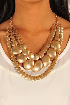 Pebble Gold Necklace - Gold