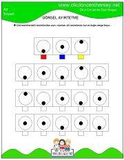 Dikkat Geliştirme Çalışmaları Dyslexia Activities, Kids Math Worksheets, Preschool Learning Activities, Free Preschool, Kindergarten Math, Kids Learning, Visual Perception Activities, Printable Mazes, Free Printable