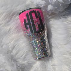 Excited to share the latest addition to my shop: Glitter Yeti/Glitter dipped tumbler/Glitter Ozark/Glitter RTIC/Yeti decal/Chunky Glitter Yeti/Pink Yeti/Blue Yeti/Glitter mug/Coffee Mug Glitter Projects, Glitter Crafts, Glitter Party, Glitter Cups, Vinyl Projects, Glitter Decorations, Diy Tumblers, Custom Tumblers, Glitter Tumblers