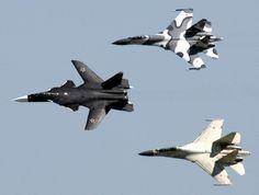 Sukhoi Su-47 and Su-35s