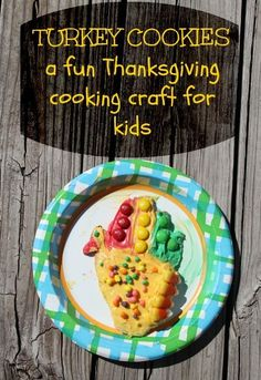 Thanksgiving Turkey Cookies are a fun baking activity that can be made with kids.