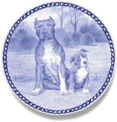 Pit Bull Terrier / Lekven Design Dog Plate 19.5 cm /7.61 inches Made in Denmark NEW with certificate of origin PLATE -3081 -- You can get additional details at the image link. (This is an affiliate link and I receive a commission for the sales)