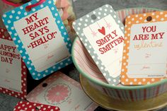 DIY present tags- 15 Valentine's Day Free Printables - ParentMap