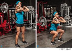 Meet The Squats: 7 Squat Variations You Should Be Doing Rencontrez les Squats: 7 variantes de squat à faire – FRONT SQUAT – Training Legs, Weight Training, Weight Lifting, Weight Loss, Strength Training, Fitness Motivation, Fit Girl Motivation, Fitness Tips, Butt Workout