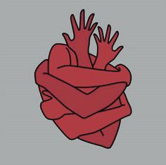Shared by Nâstašja. Find images and videos about heart, art and red on We Heart It - the app to get lost in what you love. Plakat Design, Red Aesthetic, Heart Art, Art Inspo, Line Art, Cool Art, Art Drawings, Artsy, Sketches