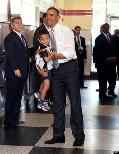 President Barack Obama picks up a boy as he visits The Varsity restaurant, Tuesday, June in Atlanta First Black President, Current President, Mr President, Black Presidents, Greatest Presidents, American Presidents, Barak And Michelle Obama, Presidente Obama, Malia And Sasha
