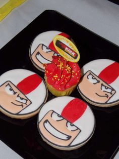 Cool cookies at a Kick Buttowski birthday party! See more party planning ideas at CatchMyParty.com!