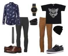 """Untitled #24"" by bananasfoster-1 on Polyvore featuring Balmain, Paul Smith, Urban Pipeline, Salvatore Ferragamo, adidas NEO, Larsson & Jennings, Hurley, Thom Browne, men's fashion and menswear"