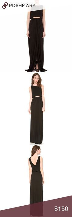 A.L.C. Hillseth cut out black maxi dress Beautiful A.L.C. Black maxi dress. No stains or any signs of wear. Perfect for any occasion! A.L.C. Dresses Maxi