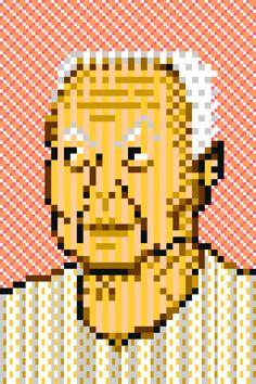 ส.ศิวรักษ์ (สุลักษณ์ ศิวรักษ์) Sulak Sivaraksa pixel art 8bit by zooddooz
