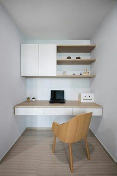 Interior Design Styles Guide is very important for your home. Whether you choose the Modern Home Office Design or Home Office Decor Inspiration, you will make the best Business Office Decorating Ideas for your own life. Study Table Designs, Study Room Design, Small Room Design, Bed Design, Study Nook, Small Home Offices, Home Office Space, Home Office Desks, Office Interior Design