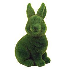 {Rabbit Grass Flocked Bank} Karma Kiss - terracotta bunny covered in grass-like flocking? Quirky Gifts, Unique Gifts, Shades Of Green, 50 Shades, Flocking, Easter Bunny, Easter Gift, Easter Crafts, Happy Easter