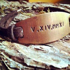 Roman Numeral Bracelet Special Date Bracelet by MotherhoodJourney