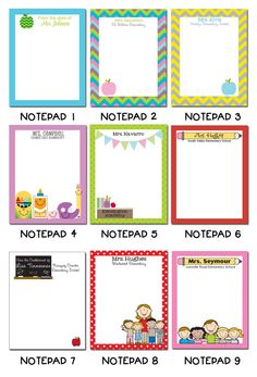 24 best personalized notepads for teachers images on pinterest