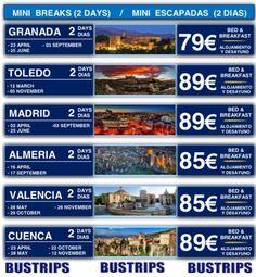Mini Escapadas 2016 Visita las tus ciudades favoritas a precios increíbles con transporte y hotel incluidos www.viajesrosatours.com info@viajesrosatours.com (+34)966717783  (+34)675956059