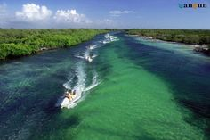 Cancun Jungle Tour. Drive your own personal 2 person speed boat through the jungle out to the reef for unforgettable snorkeling. I HAVE TO DO THIS!!!