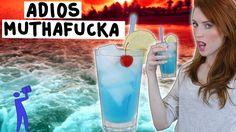How to make an Adios Motherfucker - Tipsy Bartender   1/2 oz Vodka, 1/2 oz Rum, 1/2 oz Tequila, 1/2 oz Gin, 1/2 oz Blue Curacao, 2 oz Sweet & Sour, 2 oz Lemon Lime Soda