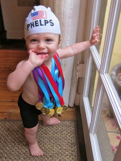 Coolest Michael Phelps Costume | Michael phelps, Party stores and ...